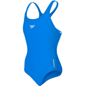 speedo Essential Endurance+ Medalist Swimsuit Girls neon blue